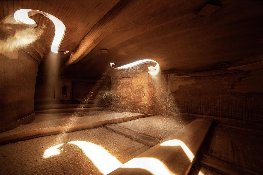 Inside Violin III by Adrian Borda