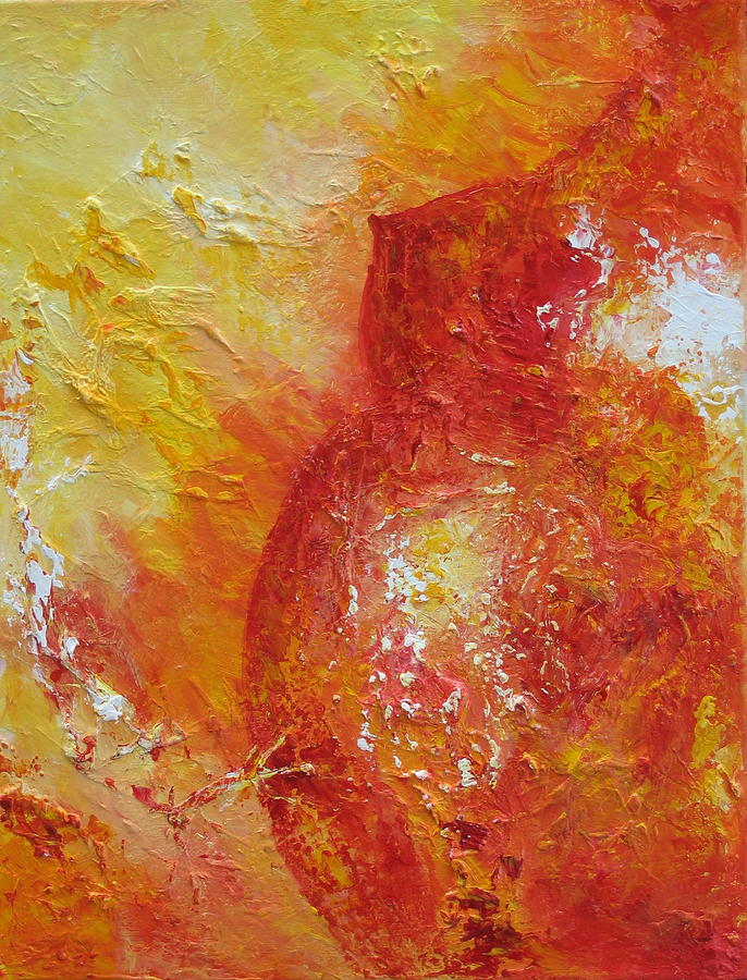 Abstract Painting - Inspiration Naissante by Nathalie Morin Rousseau