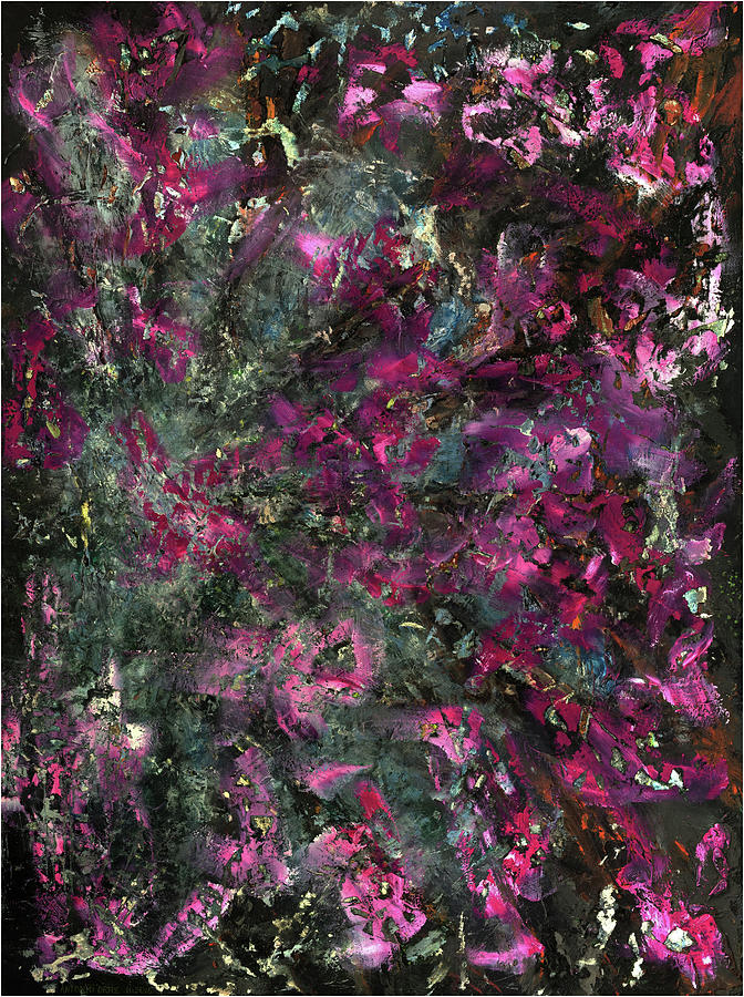 Abstract Expressionism Painting - Inspiration Never Visits The Lazy by Antonio Ortiz