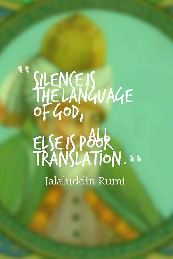 Inspirational Quotes Motivational Jalaluddin Rumi 5 Painting By