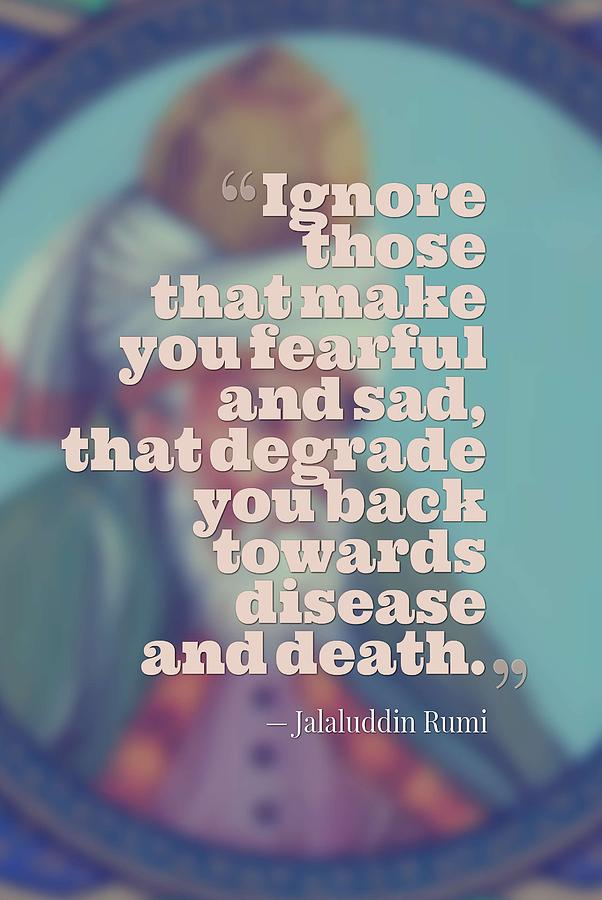 Inspirational Quotes Motivational Jalaluddin Rumi 7 Painting By