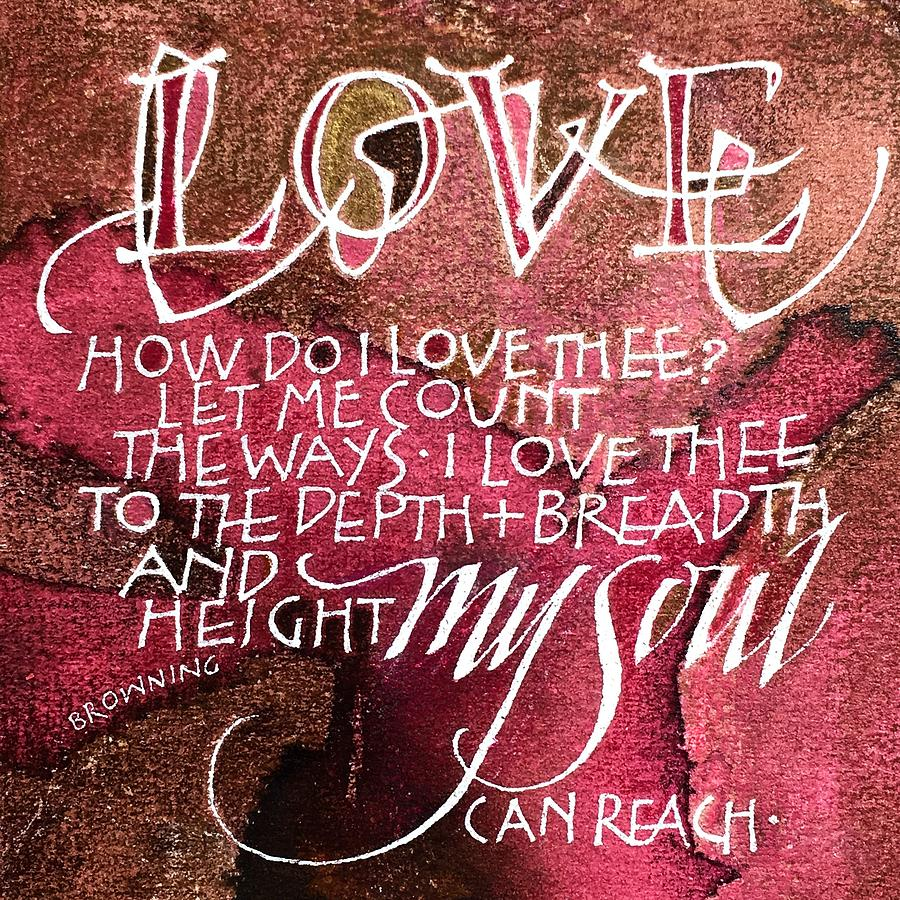 Inspirational Saying LOVE by Sally Wightkin