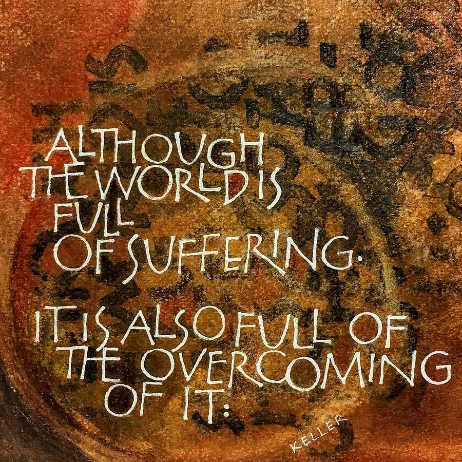 Inspirational Saying OVERCOME by Sally Wightkin
