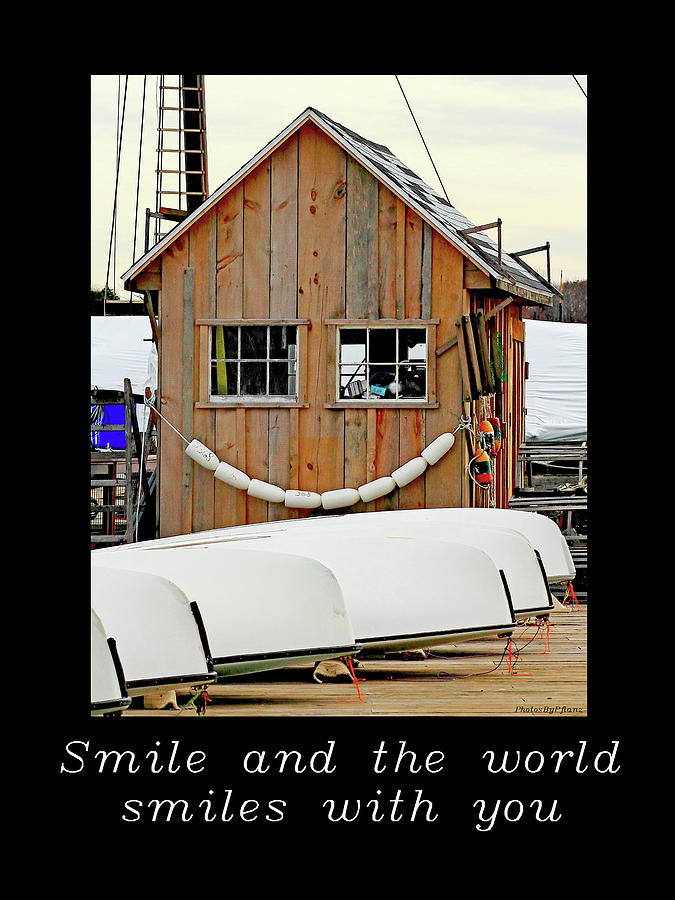 Smile Photograph - Inspirational- The World Smiles With You by Brian Pflanz