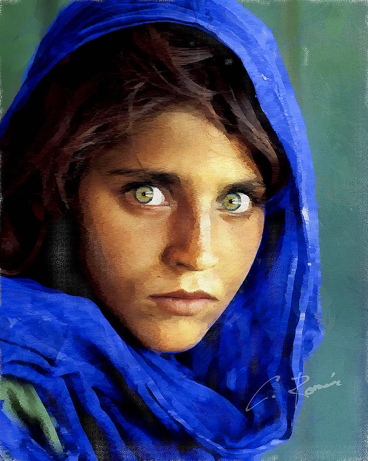 Inspired by Steve McCurry's Afghan Girl by Charlie Roman