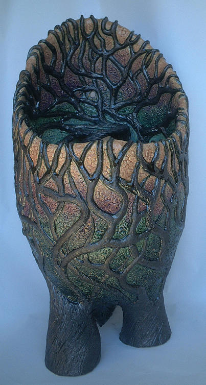Pot Sculpture - Inspired By Trees by Theodora Kurkchiev