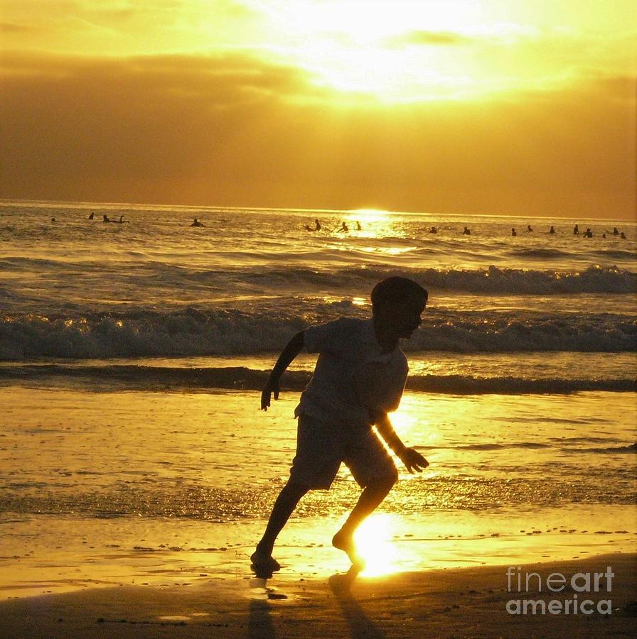 Ocean Sunset Photograph - Inspired Spirit by Cat Pancake