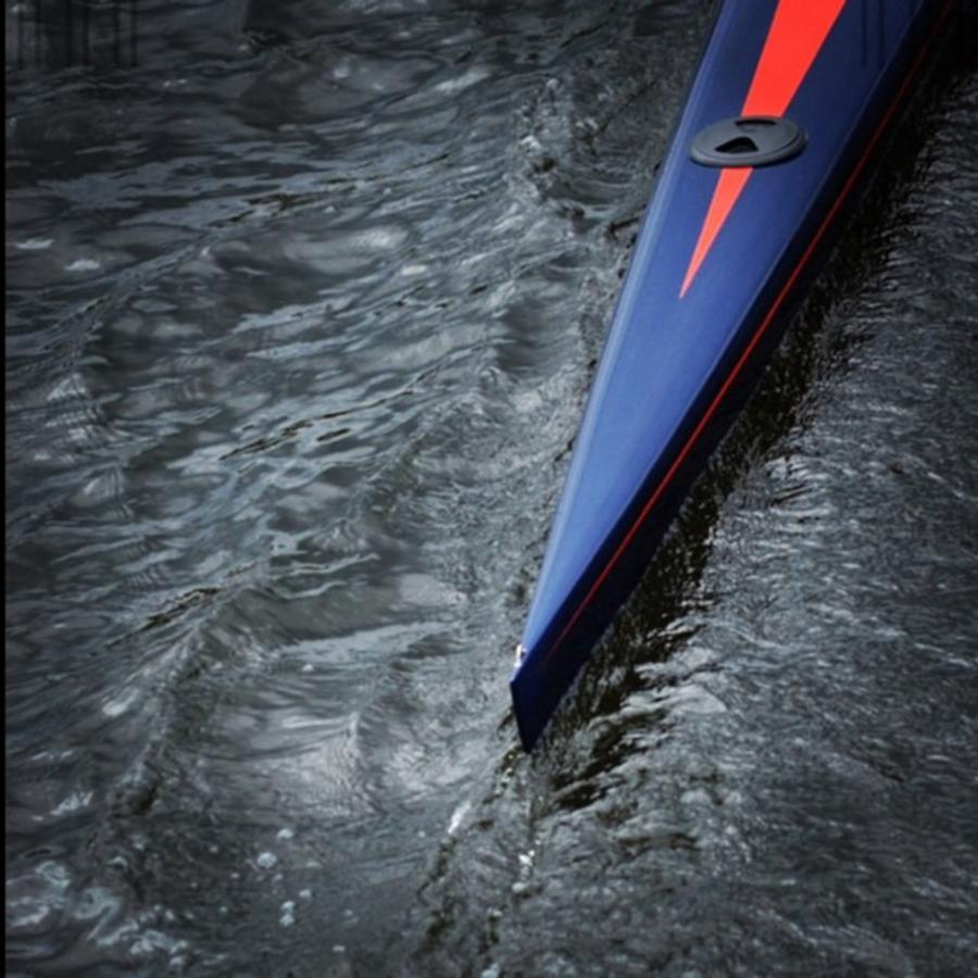 Boat Photograph - Blue Scull at the Regatta by Jason Freedman