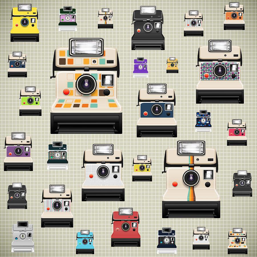 Analog Photograph - Instant Camera Pattern by Setsiri Silapasuwanchai