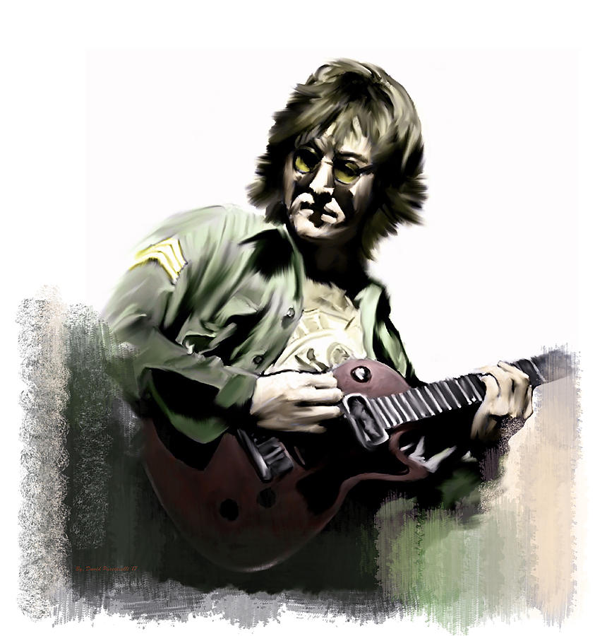 John Lennon Painting - John Lennon Instant Karma Too by Iconic Images Art Gallery David Pucciarelli