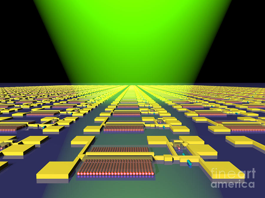 Science Photograph - Integrated Nanowire Sensor Circuitry by Science Source