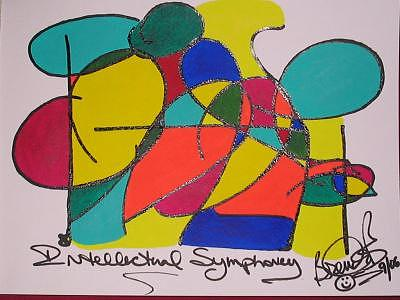 Abstract Painting - Intellectual Symphony by Brenda Basham Dothage