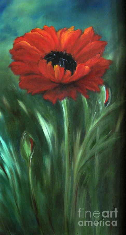 Poppy Painting - Intense by Carol Sweetwood