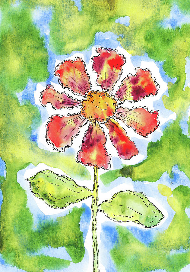 Watercolor And Ink Painting - Intense by Susan Campbell