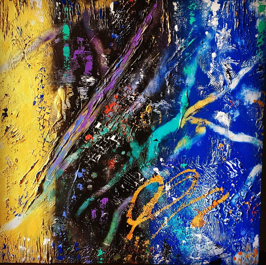 Abstract Mixed Media - Intensity  by Michael Walters