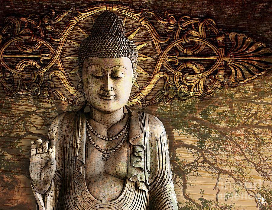 Buddha Digital Art - Intentional Bliss by Christopher Beikmann