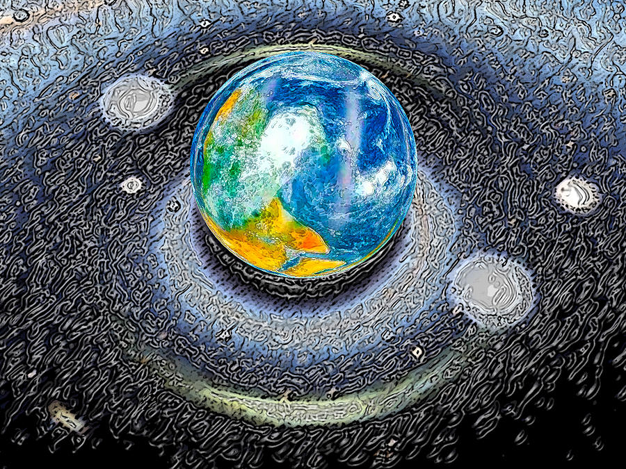 Earth Digital Art - Interactive Space by Bruce Iorio