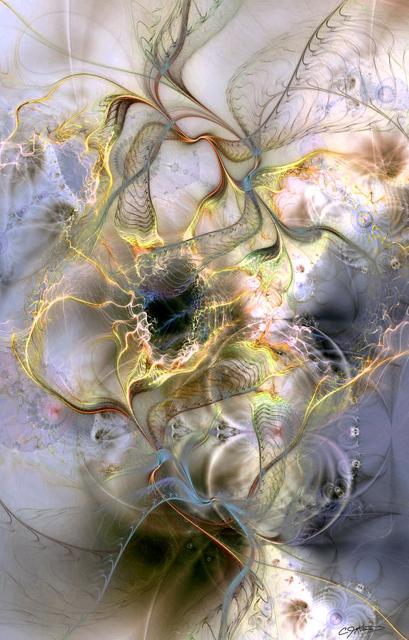 Abstract Digital Art - Interconnectedness Of Life by Casey Kotas