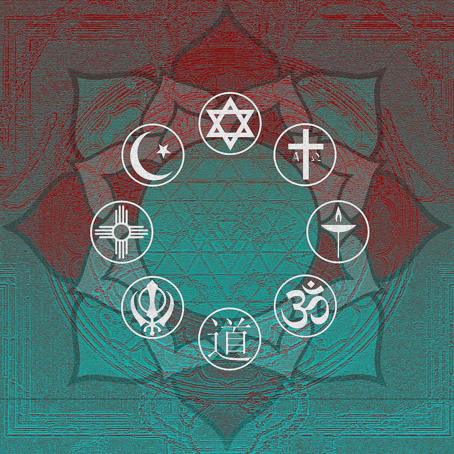 Interfaith Digital Art - Interfaith Art 33 by Dyana  Jean
