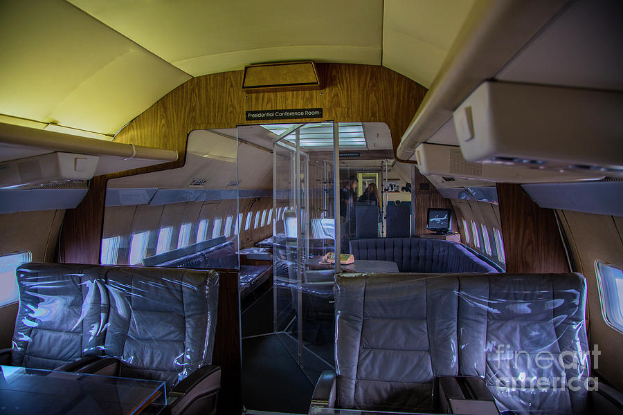 Interior of air force one photograph by rick bragan Air force one interior