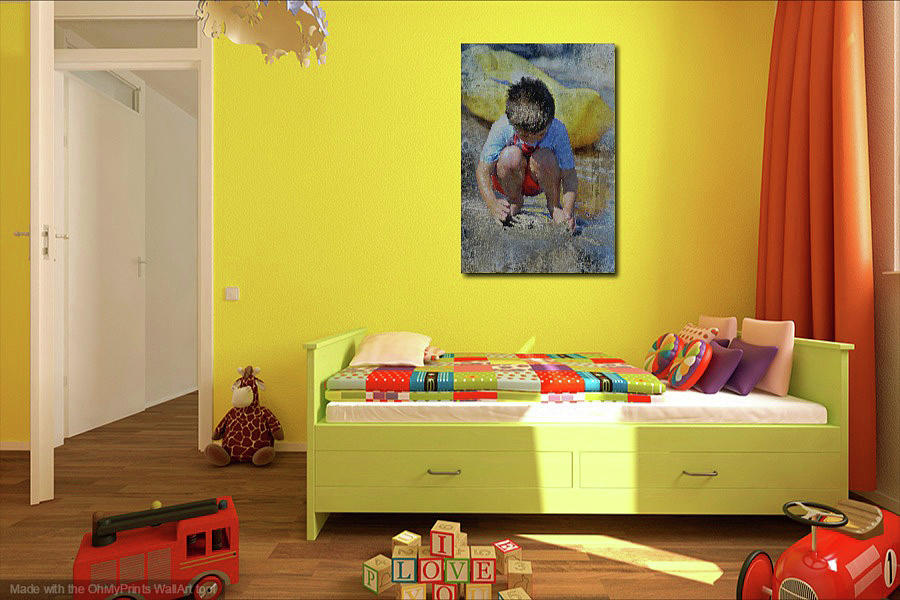 Interior with Digging to China 2 by Kate Word