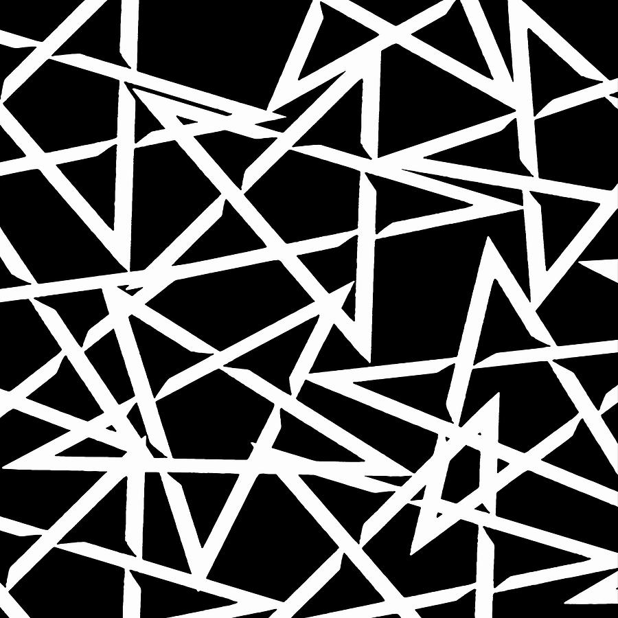 Star Digital Art - Interlocking White Star Polygon Shape Design by Taiche Acrylic Art