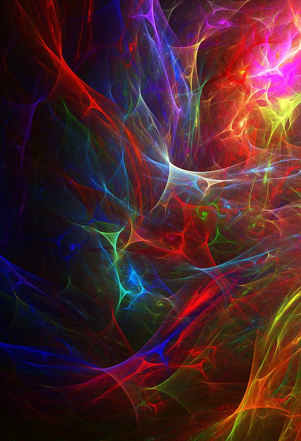 Abstract Digital Art - Internal Demons by David Lane