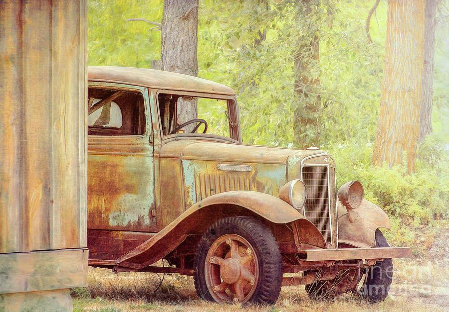 Truck Photograph - International At Cle Elum by Jean OKeeffe Macro Abundance Art