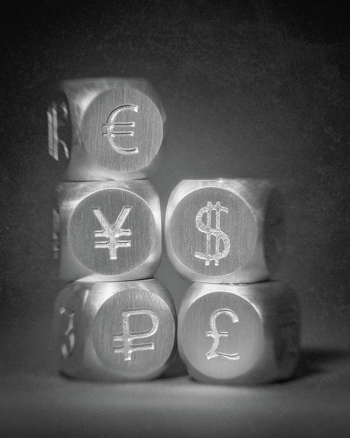 Aluminum Photograph - International Currency Symbols by Tom Mc Nemar