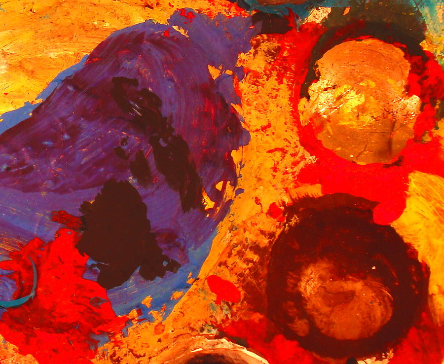 Abstract Painting - Interplanetary Encounter by Natalie Holland