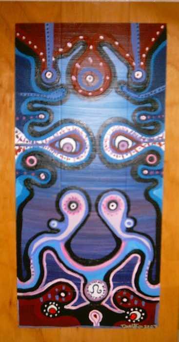 Faces Painting - Interpretation Of A Facade by Darnillious Designs