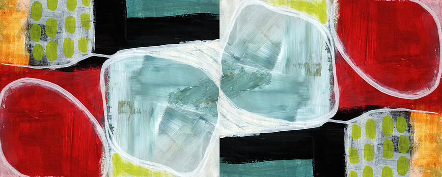Abstract Painting - Intersection 37 Part 2- Art By Linda Woods by Linda Woods