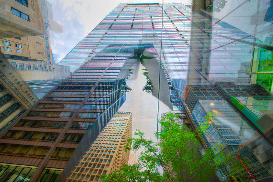 Digital Photograph - Intersection 7 by Kevin Eatinger