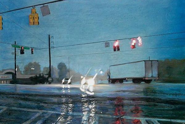 Intersection Painting by Cameron Hampton PSA