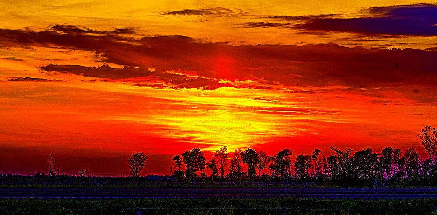 Missouri Photograph - Interstate Sunset by Jeff Kurtz