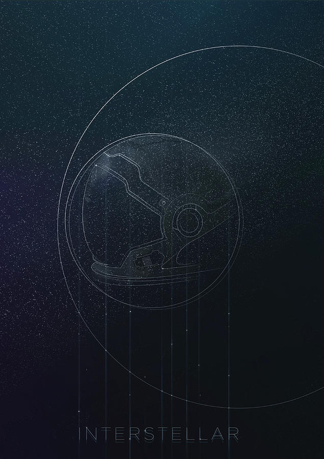 Interstellar movie poster by IamLoudness Studio