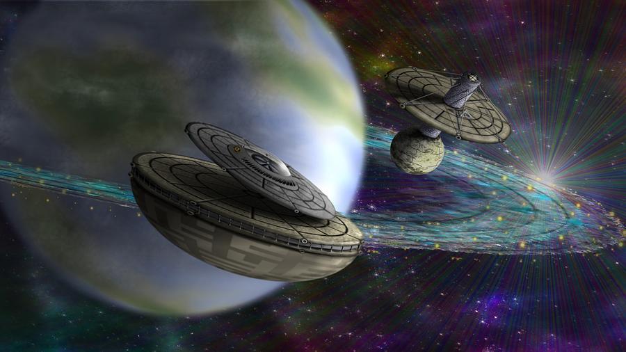 Copyright Digital Art - Interstellar by Vincent Autenrieb