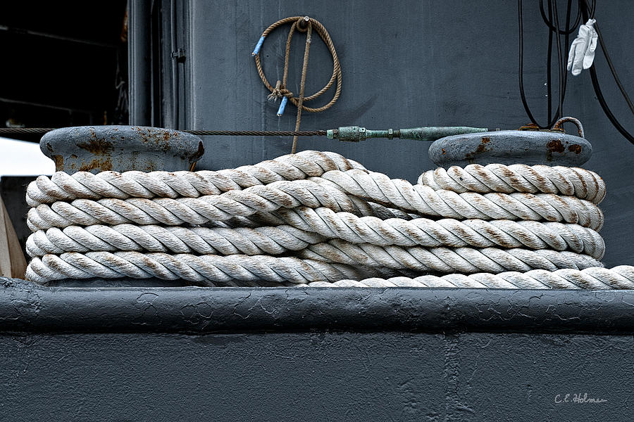 Rope Photograph - Intertwined by Christopher Holmes