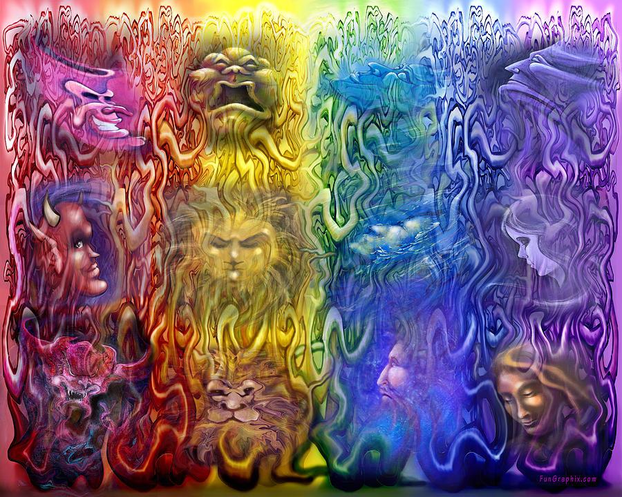 Interwoven Spectrum Of Emotions Digital Art