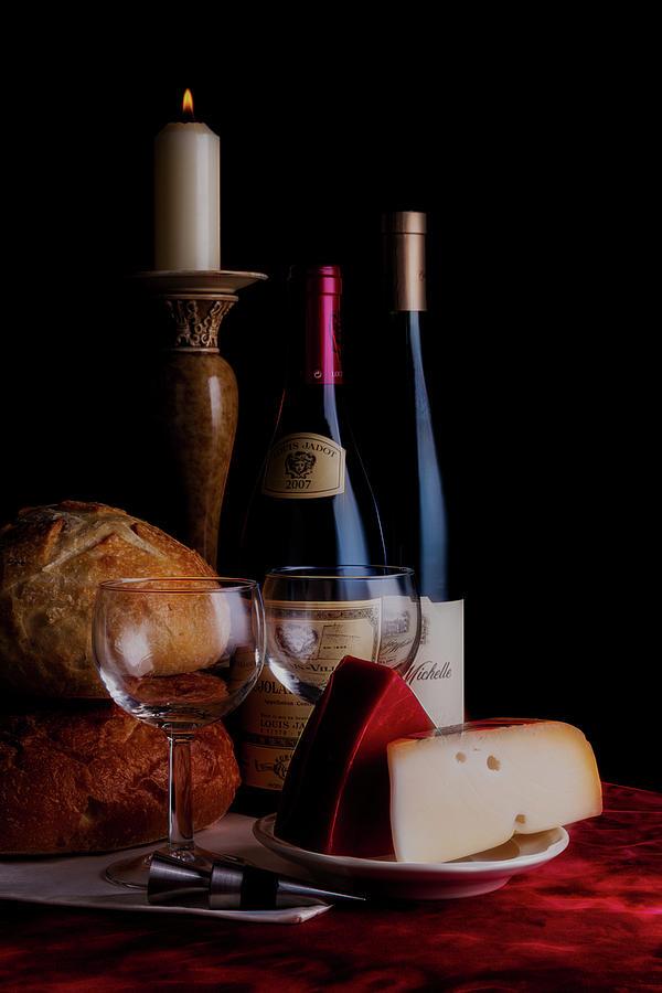 Wine Photograph - Intimate Evening by Tom Mc Nemar