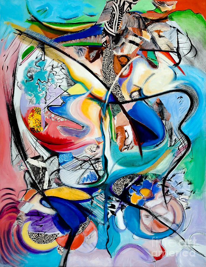 Abstract Painting - Intimate Glimpses - Journey Of Life by Kerryn Madsen-Pietsch
