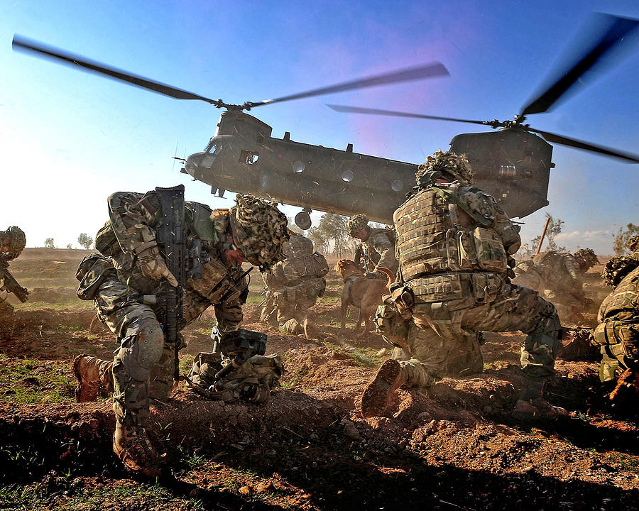 Army Photograph - Into Battle by Roy Pedersen