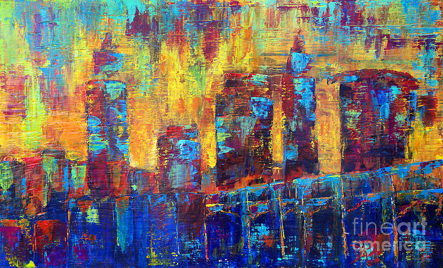 Cleveland Painting - Into Cleveland by JoAnn DePolo