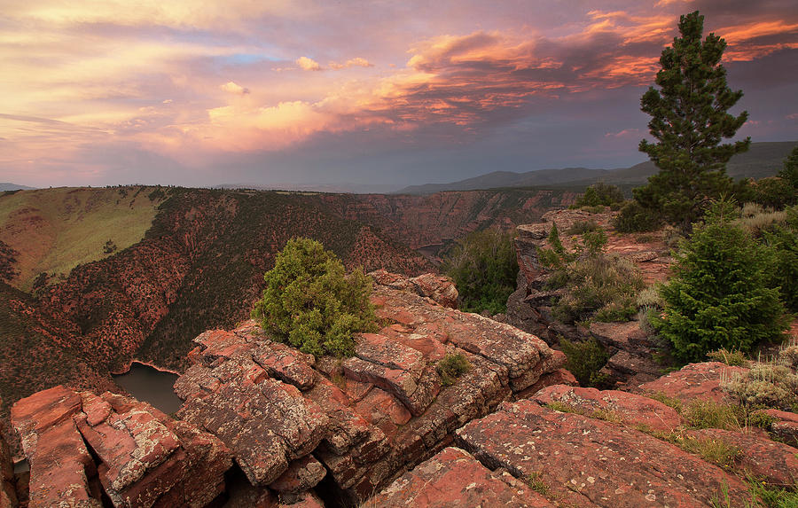 Red Canyon Photograph - Into Red Canyon by David Halter