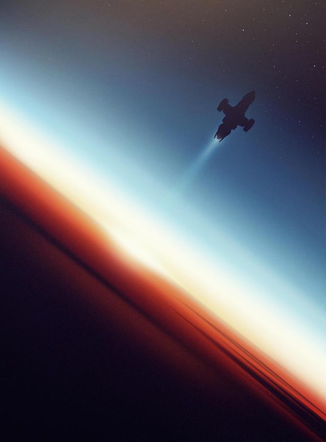 Firefly Digital Art - Into Space by Victor Vercesi