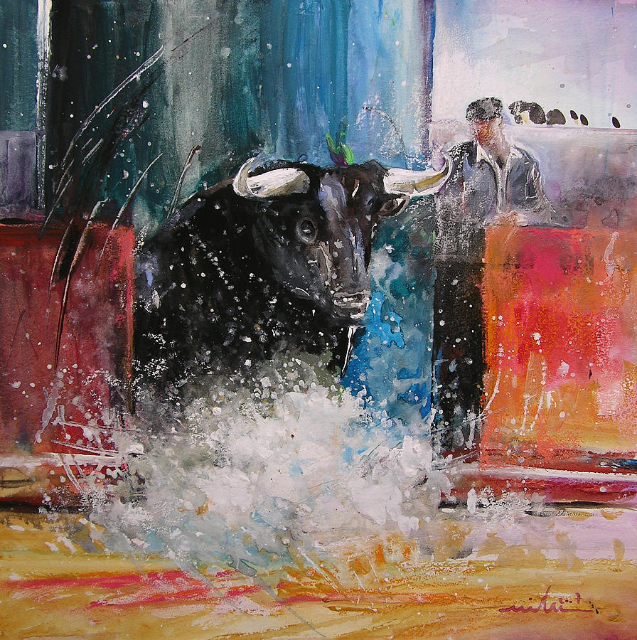 Animals Painting - Into The Arena by Miki De Goodaboom