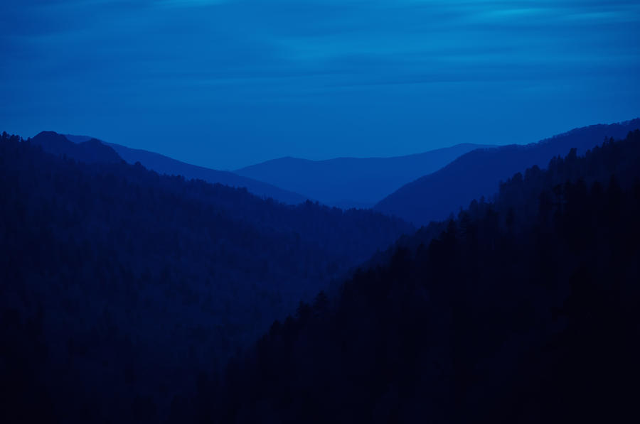 Great Smoky Mountains Photograph - Into The Blue by Rich Leighton