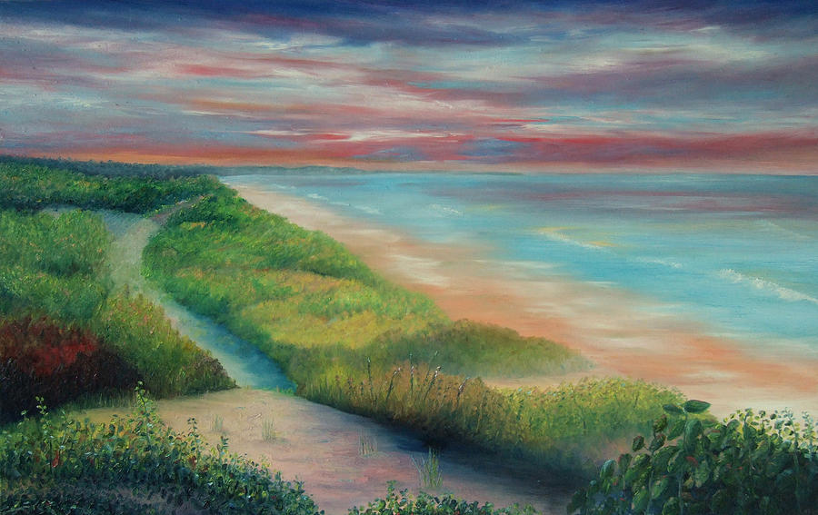 Landscape Painting - Into The Distance 07 by David Pavich