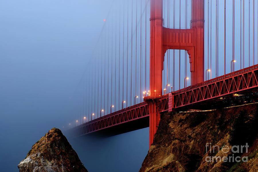 Golden Gate Bridge Photograph - Into The Fog by Joseph Greco