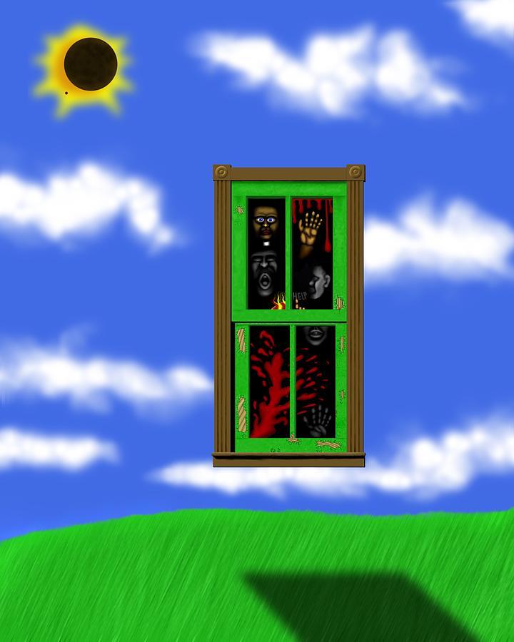 Surrealism Digital Art - Into The Green Window by Robert Morin